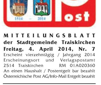 """Die Traiskirchner """"Gemeindepost"""" erscheint seit Jahren vierzehntägig. (Von: www.traiskirchen.gv.at)"""