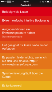 Screenshot der iOS-Version