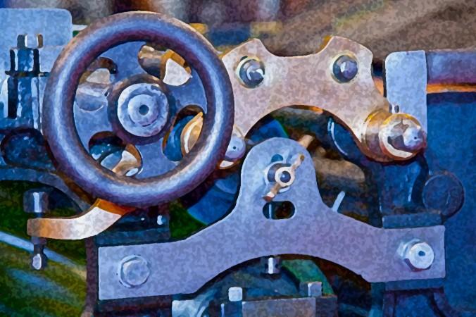 Druckereimaschine ohne Schal. Foto: Handler