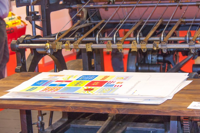 Antike Druckmaschine (Foto: Handler)
