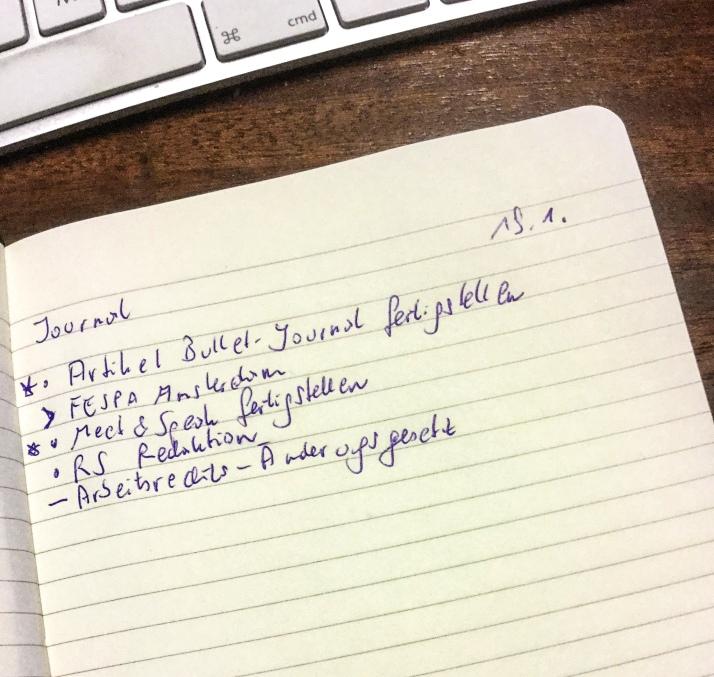 Einfach und praktisch: So kann ein Bullet Journal aussehen.