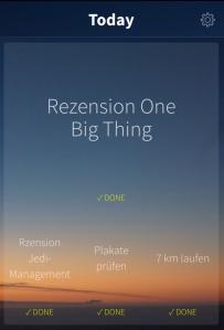 Einfach und effektiv: One Big Thing