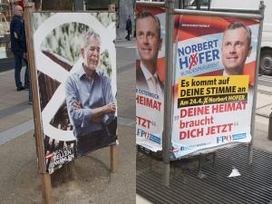Im ersten Wahlgang hatte der Kandidat der FPÖ noch ein unvollständiges Impressum (Fotos: Handler)