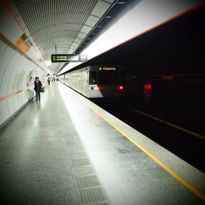 U-Bahn gerade versäumt: Dieses Bild soll möglichst vielen Fahrgästen geboten werden (BIld: Handler)