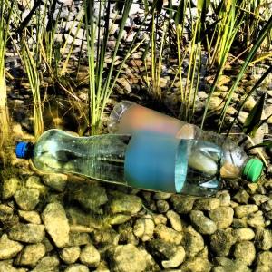 Flaschen am Strand (Foto: Handler)