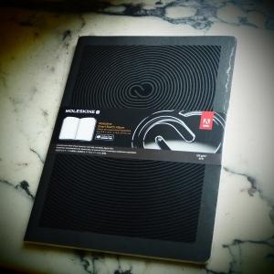 Das Notizbuch wird verschweisst geliefert (Foto: Handler)
